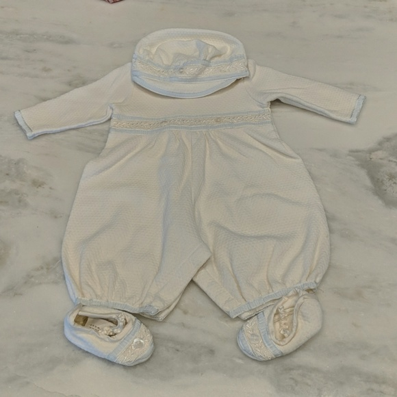 8b341b84a baby beau and belle One Pieces | Baby Boy Christening Onsie Set ...